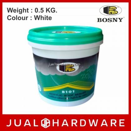 BOSNY Acrylic Roof Sealer B101 (White / 0.5KG)