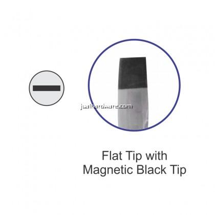 SOLEX Rubber Handle Flat Tip Screwdriver