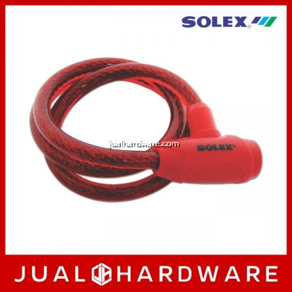 SOLEX Cable Lock No:3310 - Red