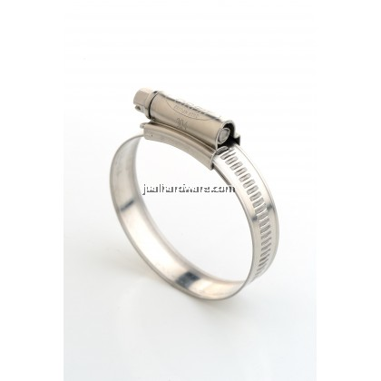 ORBIT 304 Stainless Hose Clip W4 Size 0 16mm - 22mm (10 pcs)