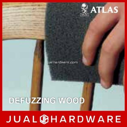 """ATLAS 6"""" x 9"""" Non-Woven Maroon Hand Pad (5pcs)"""