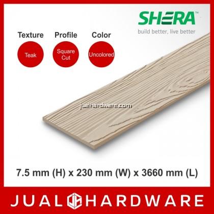 SHERA Plank - Teak / Square Cut (7.5mm x 230mm x 3660mm)