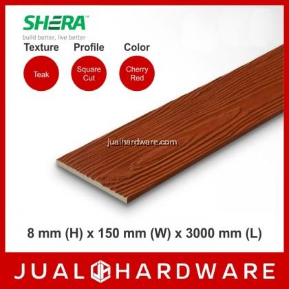 SHERA Plank Colors - Cherry Red (8mm x 150mm x 3000mm) - 5PCS