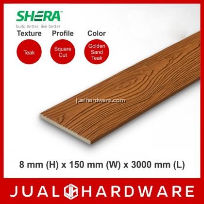 SHERA Plank Colors - Golden Sand Teak (8mm x 150mm x 3000mm) - 5PCS