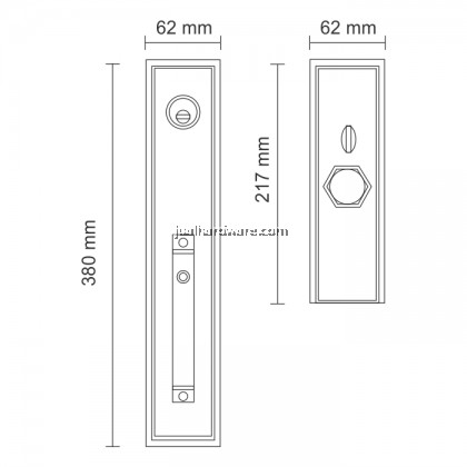 SOLEX Alloy Door Handle Lockset 3862SS