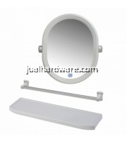 'PIXO' 3 IN 1 OVAL SHAPE MIRROR SET (51 x 55.5 cm) - MS 017