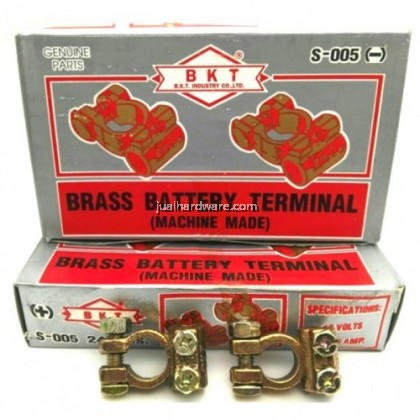 BKT BRASS BATTERY TERMINAL S-005 (-) FOR CABLE SIZE < 12MM