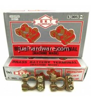 BKT BRASS BATTERY TERMINAL S-006 (-) FOR CABLE SIZE < 9MM