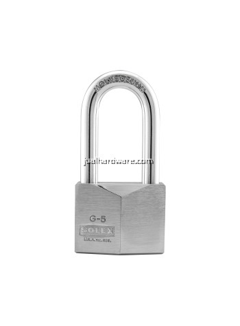 SOLEX PADLOCK - G5 40MM CHROME LONG SHACKLE