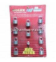 SOLEX PADLOCK - MACH II 40MM/10 KEY ALIKE SYSTEM - CR
