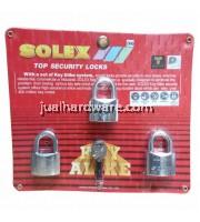 SOLEX PADLOCK - MACH II 40MM/3 KEY ALIKE SYSTEM - CR