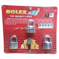 SOLEX PADLOCK - MACH II 40MM/3 KEY ALIKE SYSTEM - CR
