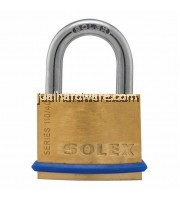 SOLEX BRASS PADLOCK , SL-110 - 40MM