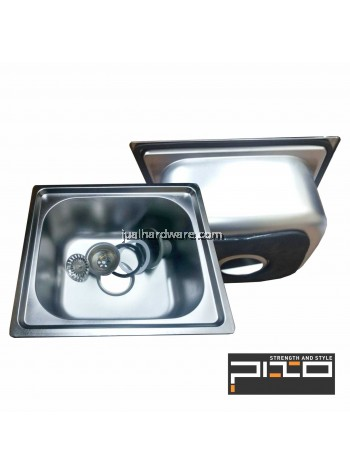 PIXO STAINLESS STEEL BASIN SIZE:42 x 37 x D20CM, THICKNESS:0.6MM