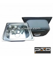 PIXO STAINLESS STEEL BASIN SIZE:45 x 39 x D20CM,THICKNESS:0.8MM